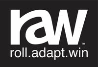 Roll Adapt Win - Sticker - White on Black