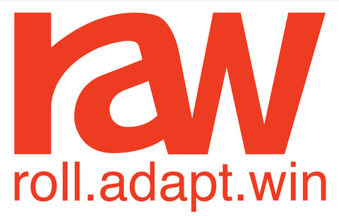 Roll Adapt Win - Sticker - Red on White