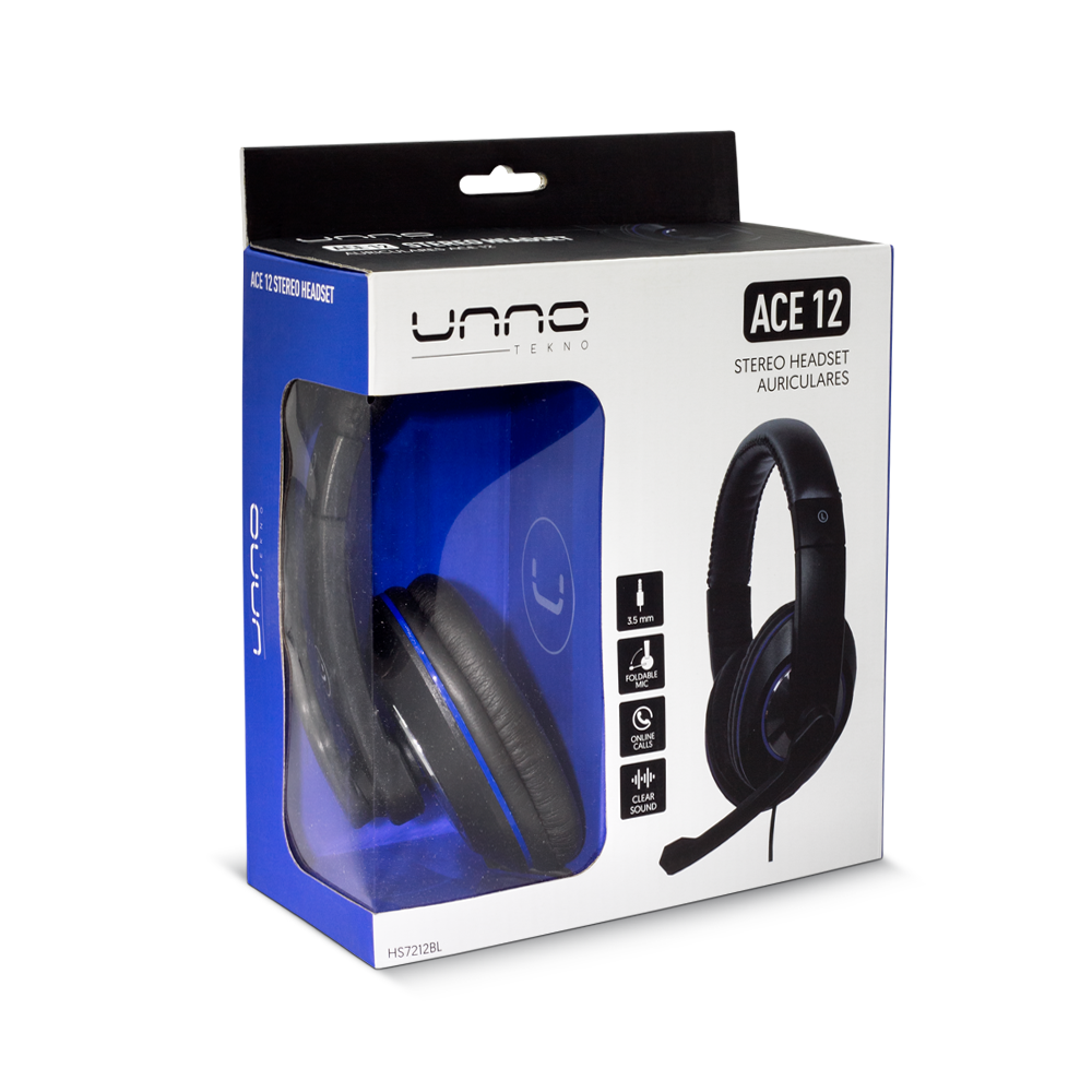 ACE 12 HEADSET 3.5 MM WITH MIC<p>HS7212BL</p>