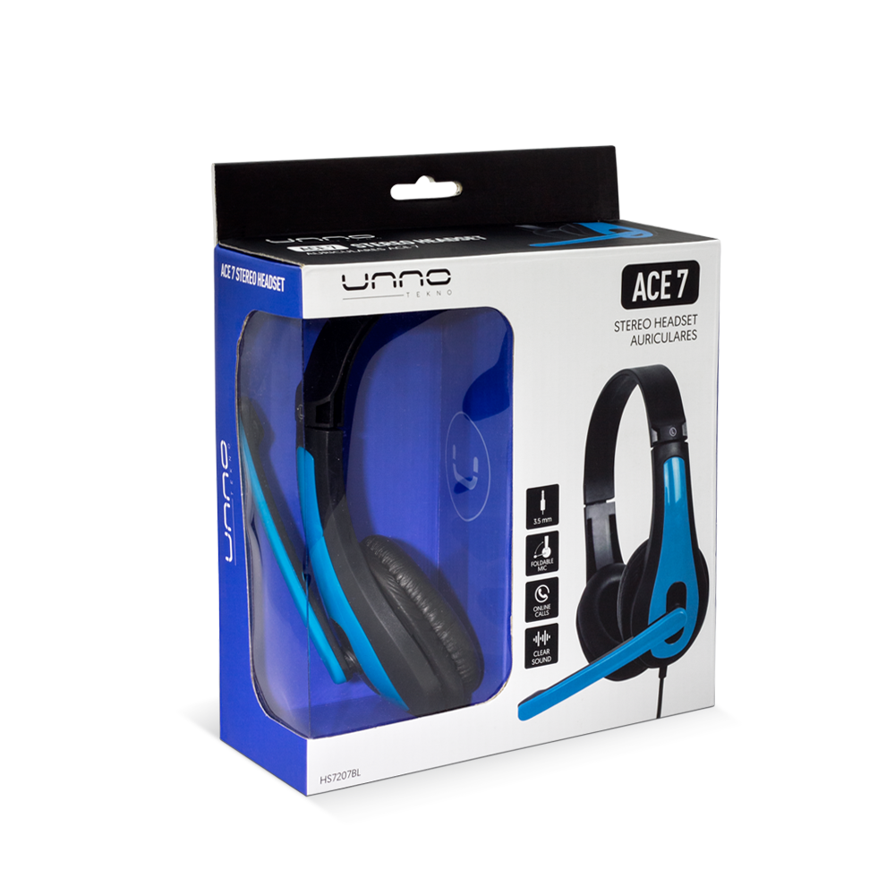 ACE 7 HEADSET 3.5 MM WITH MIC<p>HS7207BL</p>