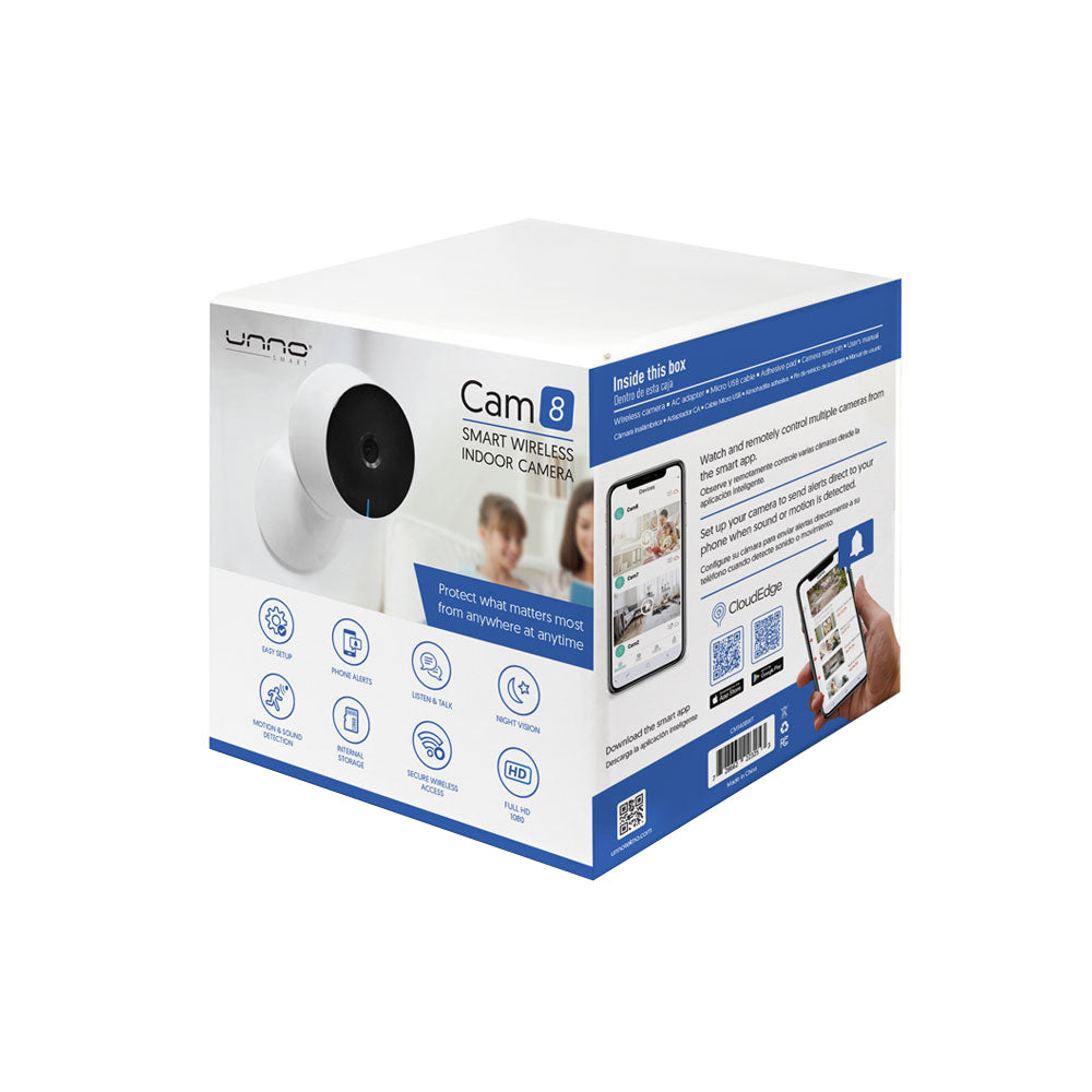SMART WIFI INDOOR CAMERA CAM8<p>CM1408WT</p>
