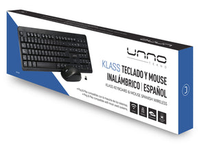 KLASS WIRELESS KEYBOARD & MOUSE COMBO SPANISH<p>KB6741BK</p>