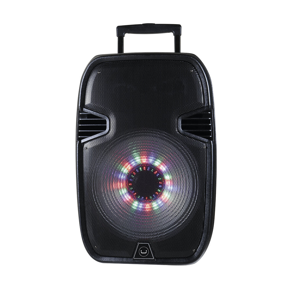 SOUNDWAVE 15+ PORTABLE SPEAKER WITH LED LIGHTS & STAND<p>SP9425BK</p>