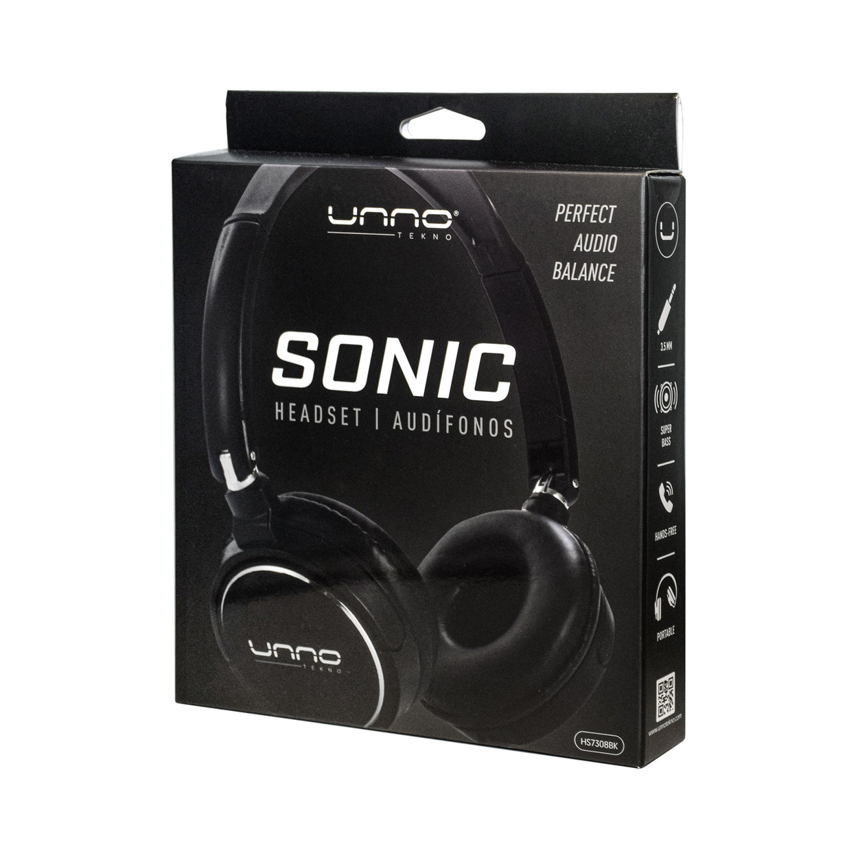 SONIC 3.5 MM HEADSET<p>HS7308BK</p>