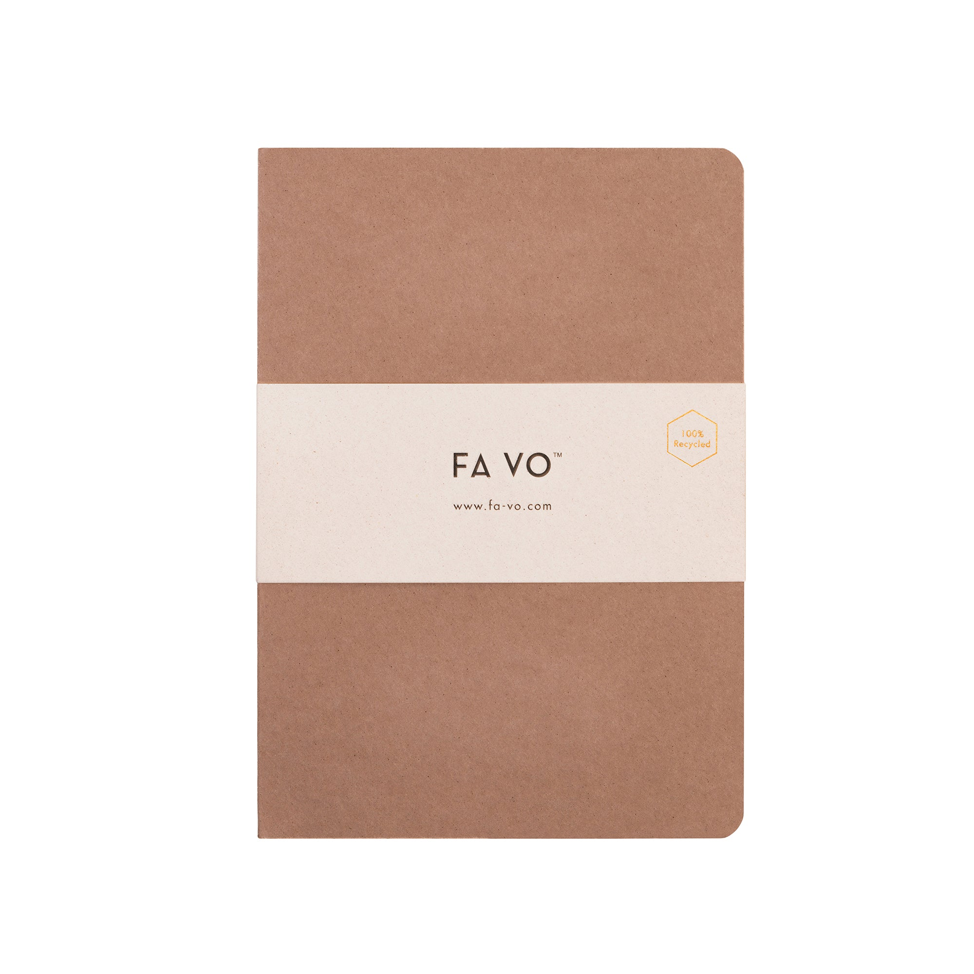 Recycled paper notebook ALMOND