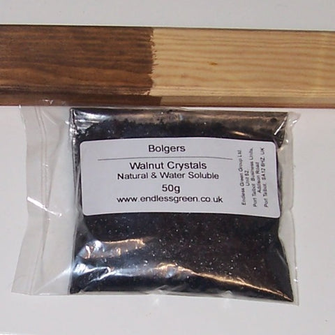 Walnut Crystals - A natural and environmentally friendly wood stain.
