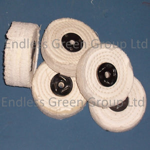 Close Stitched Cotton Polishing Wheels - 100mm