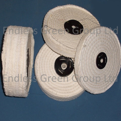 Close Stitched Cotton Polishing Wheels - 150mm