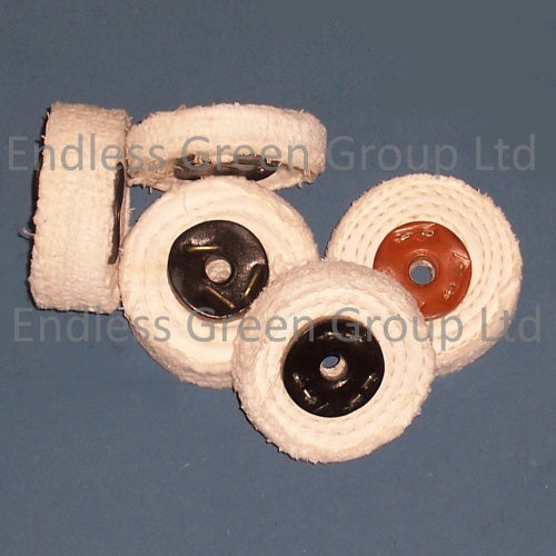 Close Stitched Cotton Polishing Wheels - 75mm