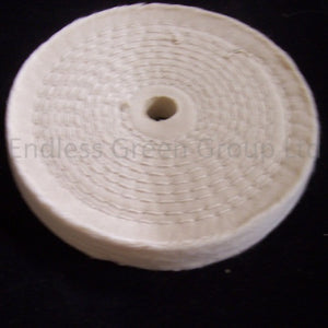 "Close Stitched Cotton Polishing Wheel - 1/2"" Hole"