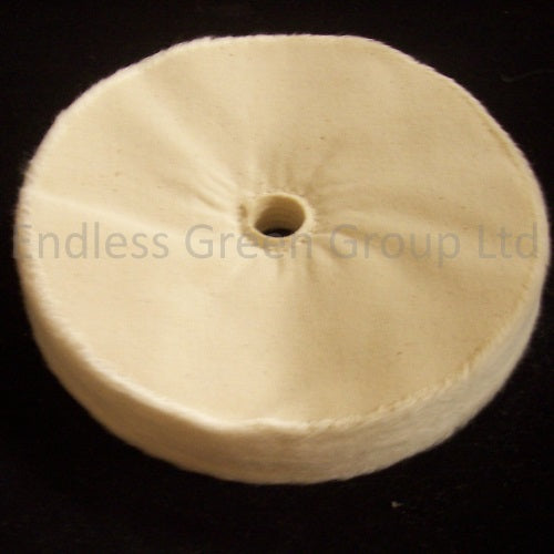 "Loose Leaf Cotton Polishing Wheel - 1/2"" Hole"