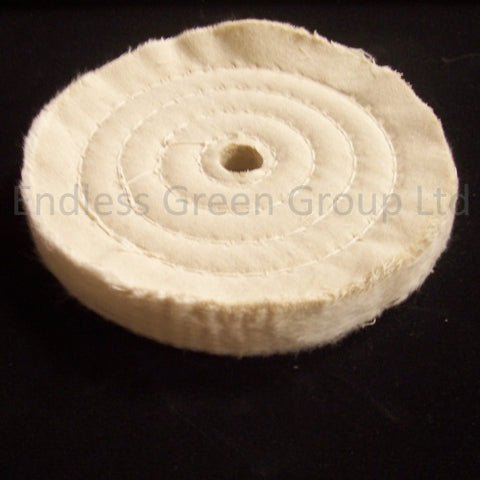 "Open Stitched Cotton Polishing Wheel - 1/2"" Hole"