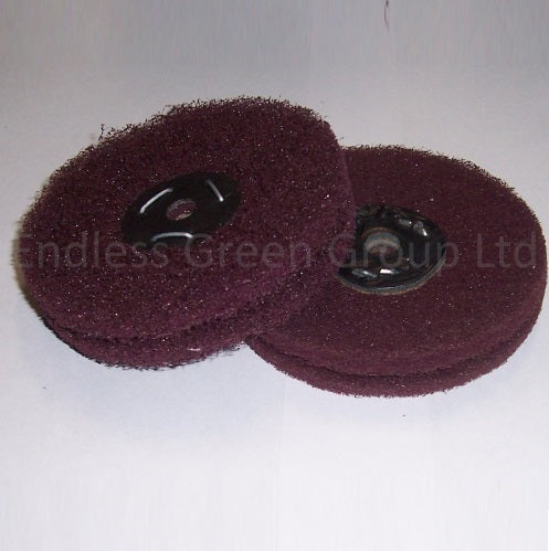 Satin Finish Abrasive Wheels - 100mm