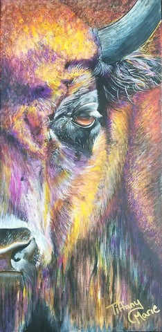 Iridescent Buffalo - Original Art - Tiffany Marie Art