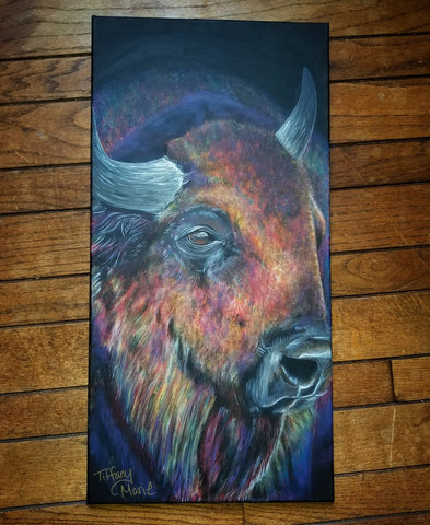 Iridescent Buffalo II - Original Painting