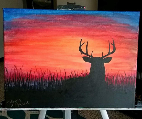 Mule Deer at Sunset - Original Painting