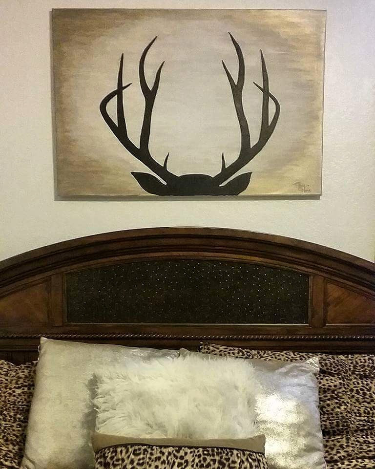 Deer Rack Silhouette - Original Painting