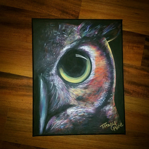 Owl - Original Art - Tiffany Marie Art