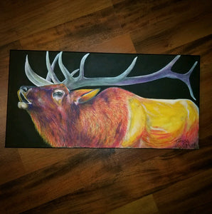 Bugling Elk - Original Art - Tiffany Marie Art