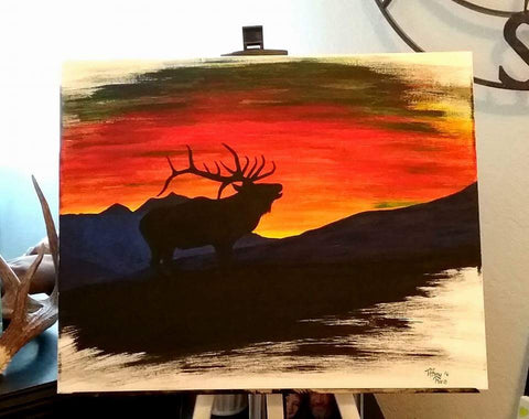 The Drunken Elk - Original Painting