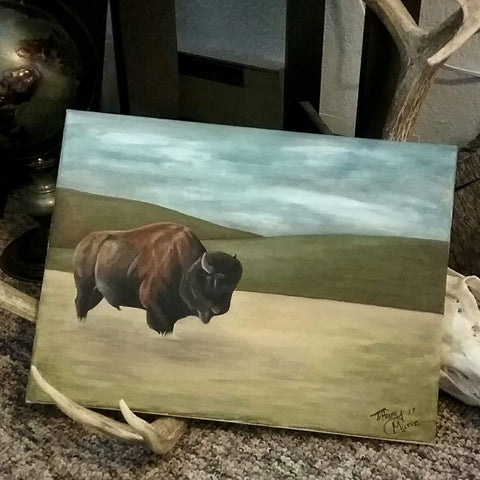 Bison on the Plains - Original Painting