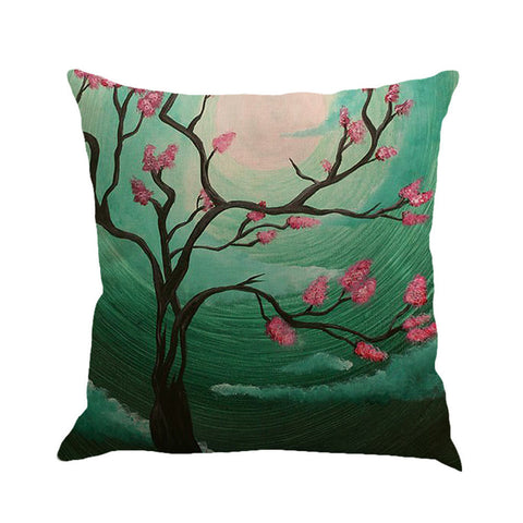 Tree Painting Cushion Cover