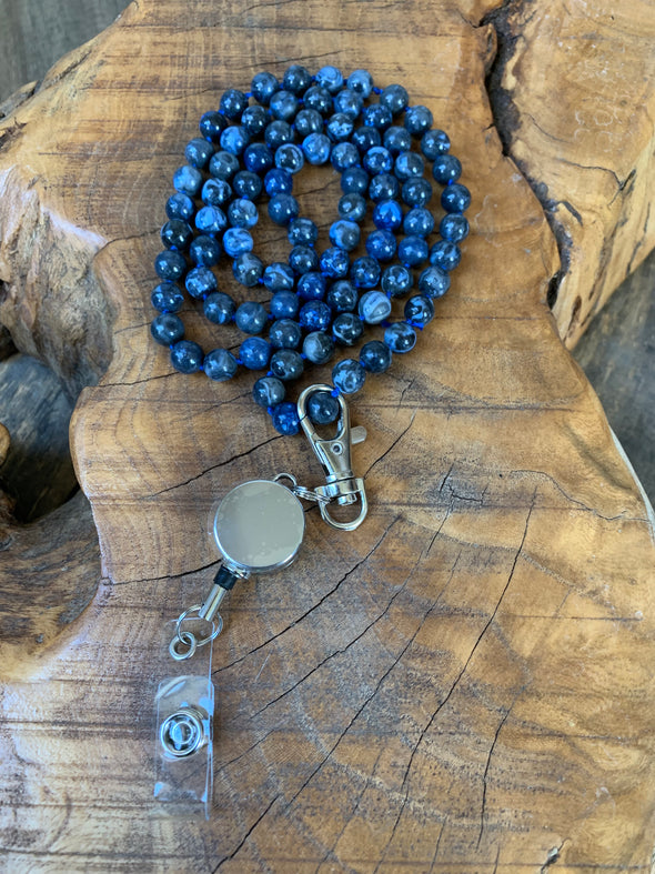 Gemstone Necklace with Zip Clip Option