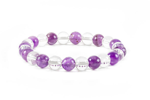 Amethyst and Quartz Bracelet