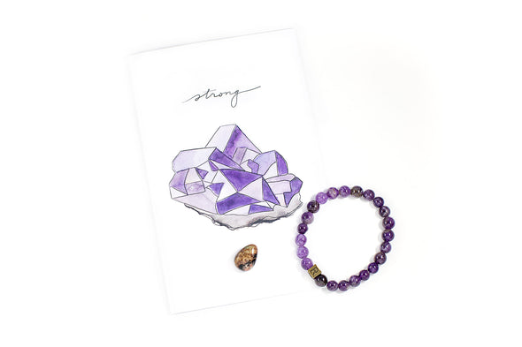 Amethyst Natural Stone Bracelet - I Feel Strong