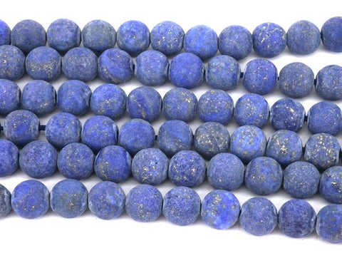 Blue Lapis Natural Stone Bead  - Matte