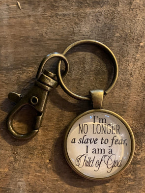I'm no Longer a Slave to Fear Keychain
