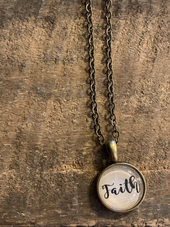 Faith Mini Pendant Necklace