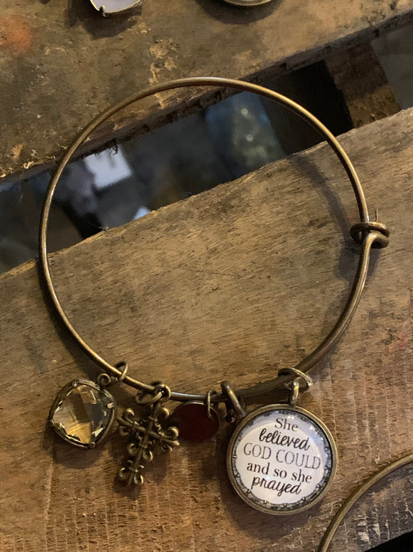 She Believed She Could Bangle Bracelet