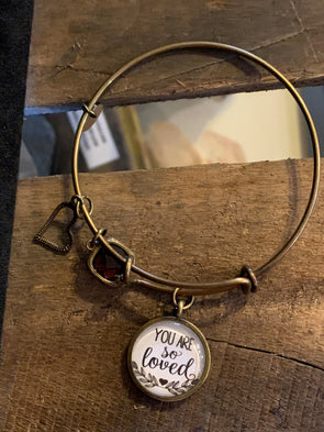 You are So Loved Bangle Bracelet