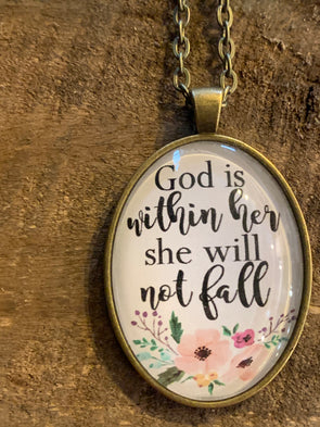 God is Within Her Pendant Necklace