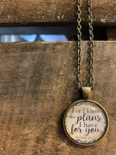For I Know the Plans Pendant Necklace