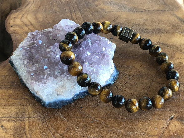 Tiger Eye Natural Stone Bracelet - I Feel Courageous