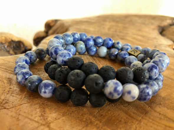 "Sodalite Natural Stone Aromatherapy Bracelet ""I Feel..."" Inspired (SALE!)"
