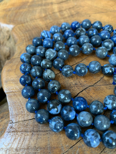"Natural Gemstone Necklace (32"")"