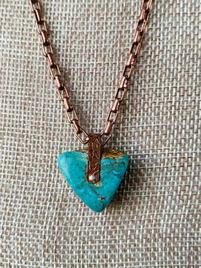 Authentic Turquoise Pendant Necklace