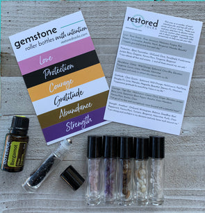 Gemstone Roller Bottles with INTENTION