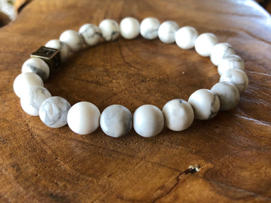 "Howlite Natural Stone Bracelet - ""I feel..."" Focused (SALE!)"