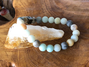 "Amazonite Natural Gemstone Bracelet - ""I feel..."" Heard"
