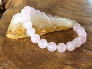 "Rose Quartz Natural Gemstone Bracelet - ""I feel..."" Love"