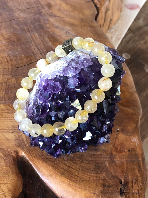 "Citrine Natural Gemstone Bracelet - ""I feel..."" Abundant"