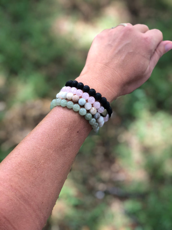 "Aventurine Natural Stone Bracelet - ""I feel..."" Optimistic (SALE!)"