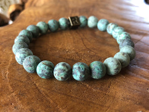 "African Turquoise Stone Bracelet - ""I feel..."" Whole (SALE!)"