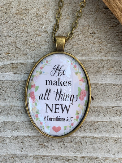 He Makes all Things Pendant Necklace