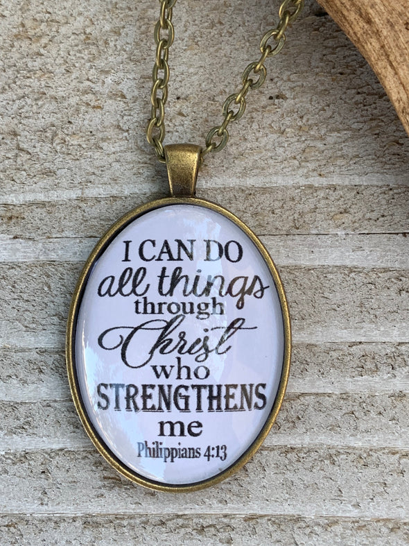 I Can do All Things Pendant Necklace