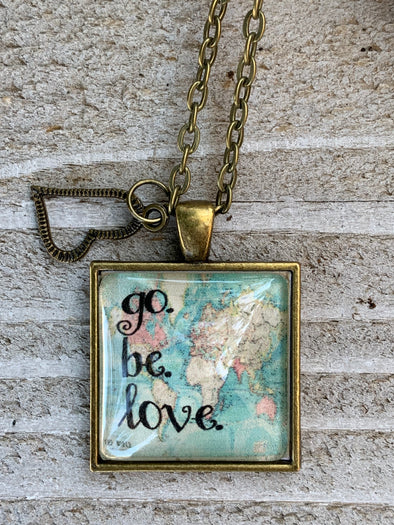 Go. Be. Love. Pendant Necklace